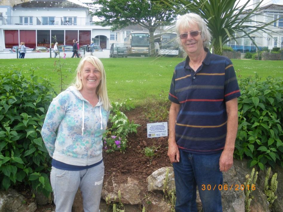 Tim and Jo at Babbacombe.